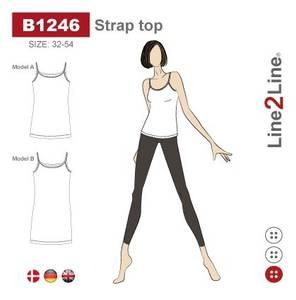Bilde av Line2Line B1246 Stroppetopp - stretch stoff