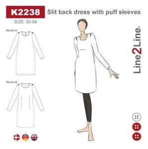 Bilde av Line2Line K2238 Kjole med puffermer