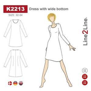 Bilde av Line2Line K2213 Kjole med vid bunn
