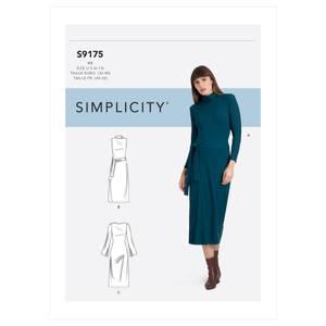 Bilde av Simplicity S9175 Kjole med variasjoner