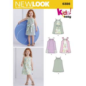 Bilde av New Look 6386 Kjole med panel