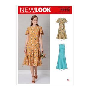 Bilde av New Look N6652 Kjole med erme og lengde variasjoner