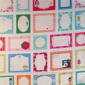 Bilde av Bomull - Handmade with love - panel merkelapper til quilt