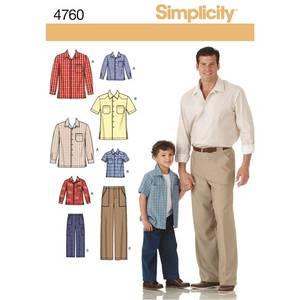 Bilde av Simplicity 4760 Skjorte til mann og barn