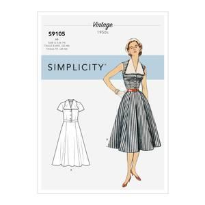 Bilde av Simplicity S9105 Vintage kjole