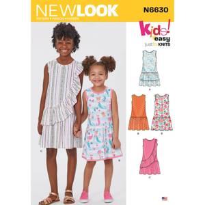 Bilde av New Look N6630 Kjole med volanger og rysjer