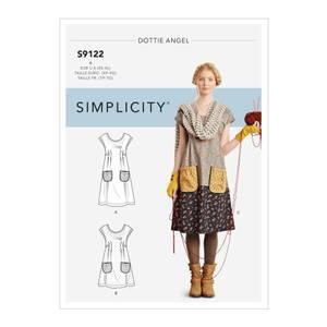 Bilde av Simplicity S9122 Kjole med knyting