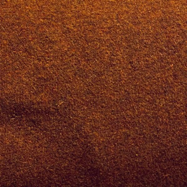 Strikket ull rust brun