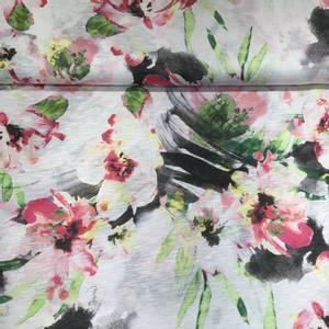 Bilde av Viskose melert rosa blomster