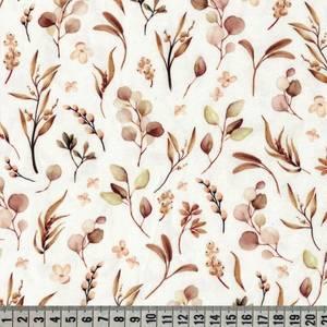 Bilde av Jersey digital akvarell blader - brun toner