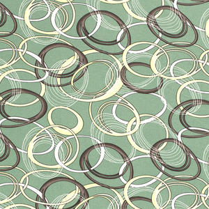 Bilde av Viskosejersey - sirkler på grønn bakgrunn