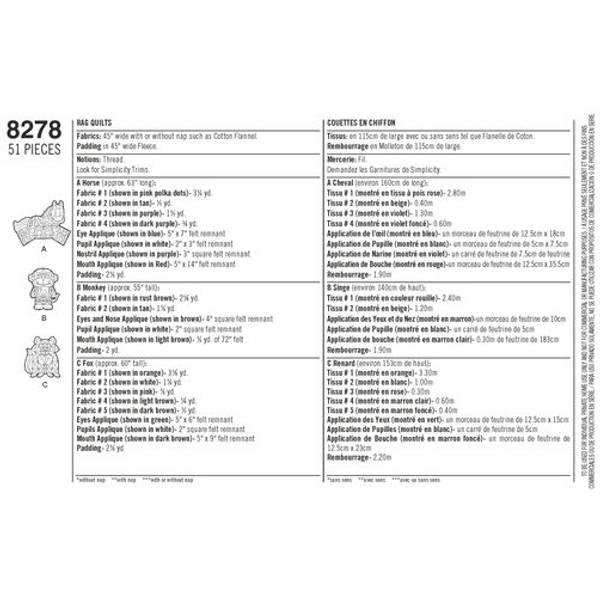 Simplicity 8278 Quilt