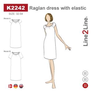 Bilde av Line2Line K2242 Raglan kjole med elastikk