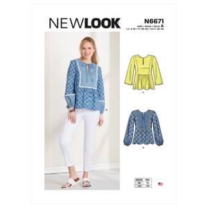 Bilde av New Look N6671 Bluse med prinsessesnitt