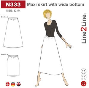 Bilde av Line2Line N333 Maxiskjørt med vidde