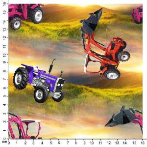 Bilde av Jersey - traktor, lilla, rosa og rød