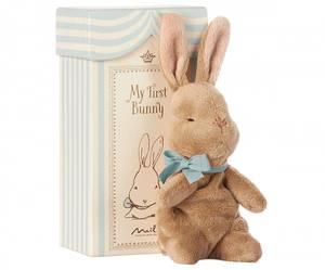 Bilde av Maileg - My First Bunny in Box, blå