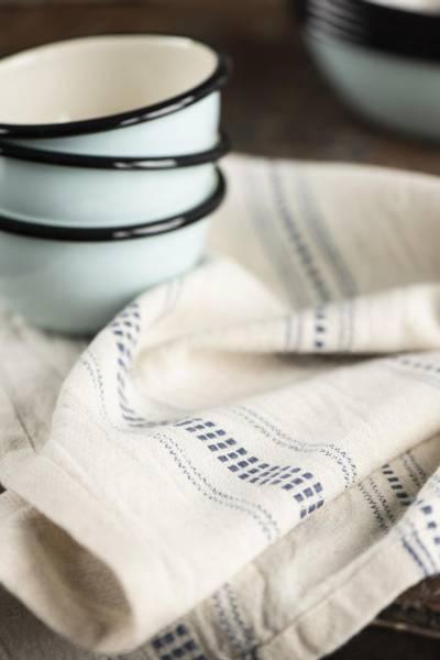 Koppehåndkle vevd blått mønster